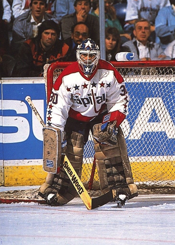 Clint Malarchuk Washington Capitals Goaltending Caps Hockey