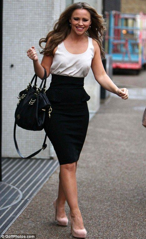 Busy star: Kimberley was promoting her musical Shrek, with co-star, former EastEnders actor, Nigel Harman