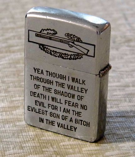 Vintage Viet Nam War Ear Zippo Cigarette Lighter Dated 70-71-72, Reverse Side.