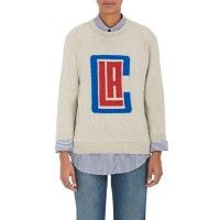 Buy The Elder Statesman X NBA - Los Angeles Clippers Logo Cashmere Sweater - Women's Sweaters 504733598 Fashion New - TYVRTCZ
