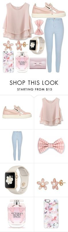 """""""Untitled #64"""" by foreveritaly ❤ liked on Polyvore featuring Giuseppe Zanotti, Chicwish, River Island, Victoria's Secret and Casetify"""