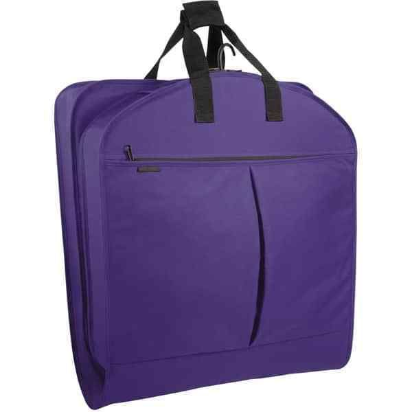 Purple 52 Inch Luggage Garment Bag With Pockets Zippers Carry On Free Shipping #SuitGarmentBag