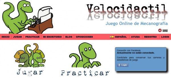 Velcidactil - un juego online para aprender mecanografía