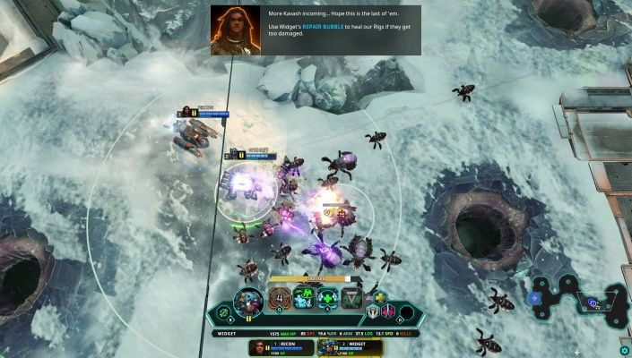 Dropzone is a Free-to-play Real Time Strategy MOBA Multiplayer Game featuring a wide variety of modes including competitive 1v1 2v2 and Team 3v3 battles PvP and PvE custom maps single player gameplay against AI and a cooperative wave-based Infestation mode