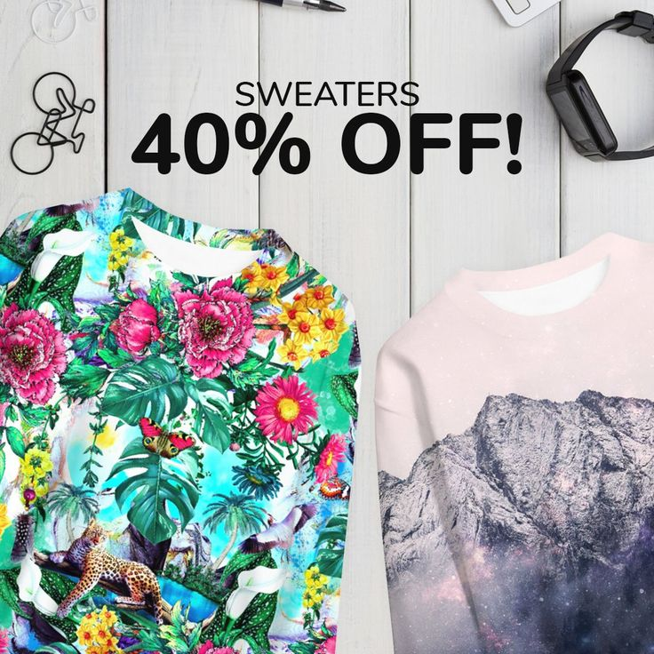 Time for 24-hours SALE! Look at our SWEATERS and get what You like 40% OFF!  https://liveheroes.com/en/shop/women/sweater?special=featured