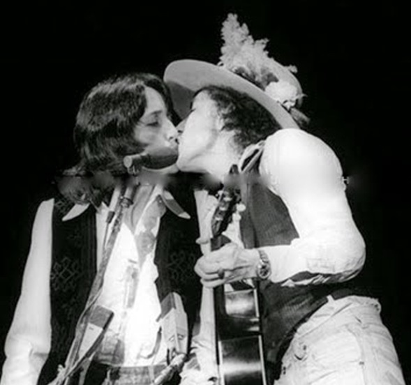 Joan Báez and Bob Dylan {Rolling Thunder Revue Tour 1975}
