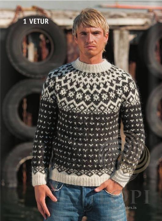 - Icelandic Vetur (Winter) Mens Wool Sweater Black - Tailor Made - Nordic Store Icelandic Wool Sweaters - 1