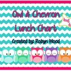 This Owl & Chevron Lunch Chart offers 4 lunch choices plus a lunchbox choice! Perfect for schools with lots of options! :)...