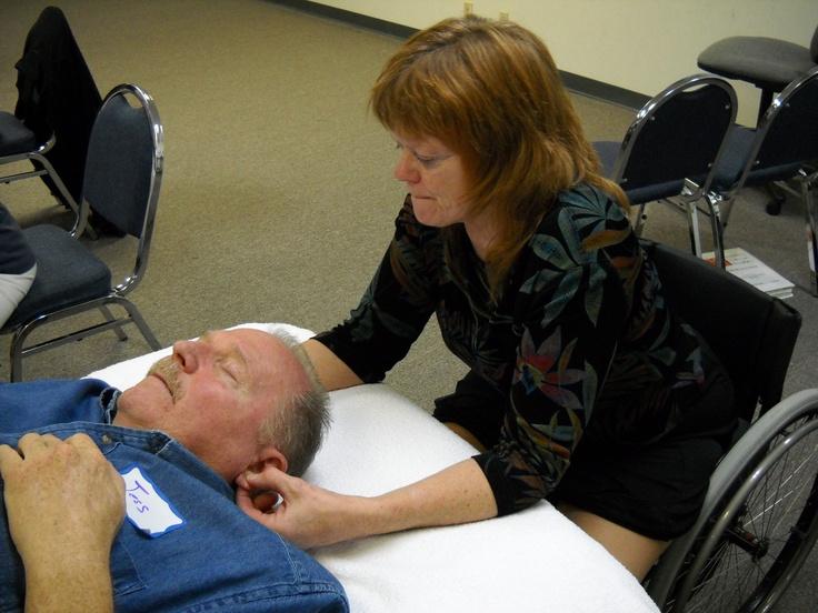 Ear Reflexology Workshop #Ear Reflexology is profoundly relaxing #Reflexology Certificate Course http://www.americanacademyofreflexology.com