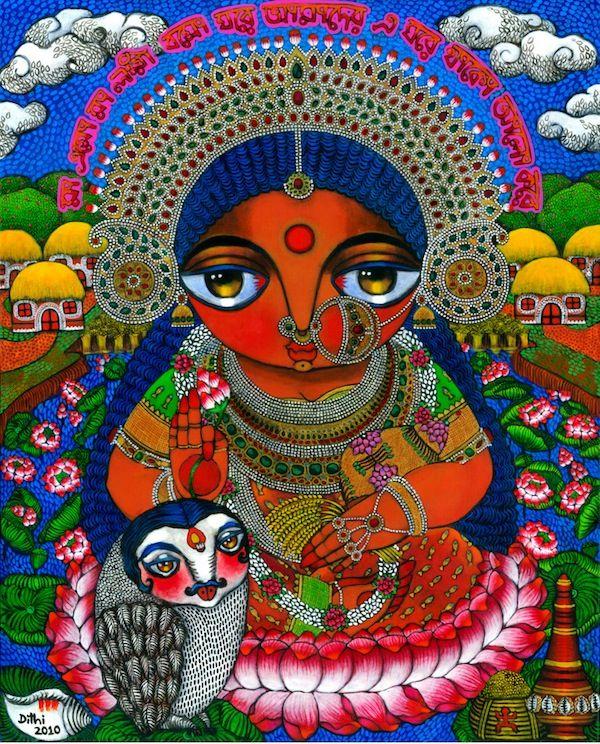 Art India: Dithi : Maa Lokhi - Online Shopping India
