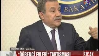 """İçişleri Bakanı Muammer Güler'de """"Öğrenci Evleri"""" hakında açıklama yaptı """"Terör Örgütleri,Kız Erkek ilişkisini Kullanıyor"""" dedi ve Apartlar'la ilgili genelgenin valiliklere gönderildiği açıklandı."""