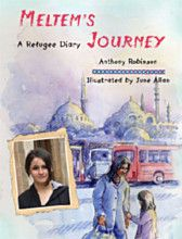 Turkey - Meltem's Journey - A Refugee Story  This fourth book in the Refugee Diary series follows a Kurdish family from Eastern Turkey. 13 year old Meltem tells the story of their journey to the UK, and the harrowing months waiting to find out if they can stay in Britain. Meltem encounters racism, her father goes missing and the family is sent to Yarl's Wood detention centre.