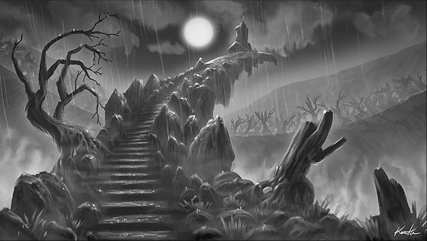 Abyss. This is where the bride threw away her engagement ring and cursed her lover. From Grim Legends: The Forsaken Bride