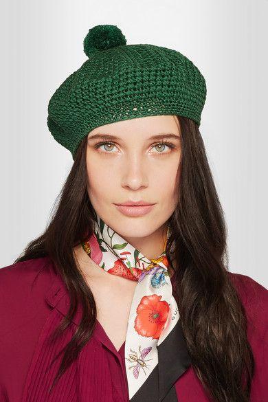 Gucci | Crocheted cotton beret | NET-A-PORTER.COM
