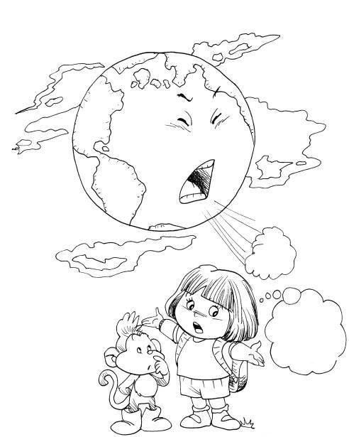 Okul Öncesi Çevre Kirliliği İle İlgili Boyamalar - Okul Öncesi Etkinlik Faaliyetleri - Madamteacher.com