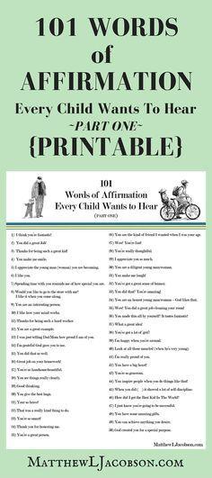 Words of Affirmation for Children www.protocol.com.pl