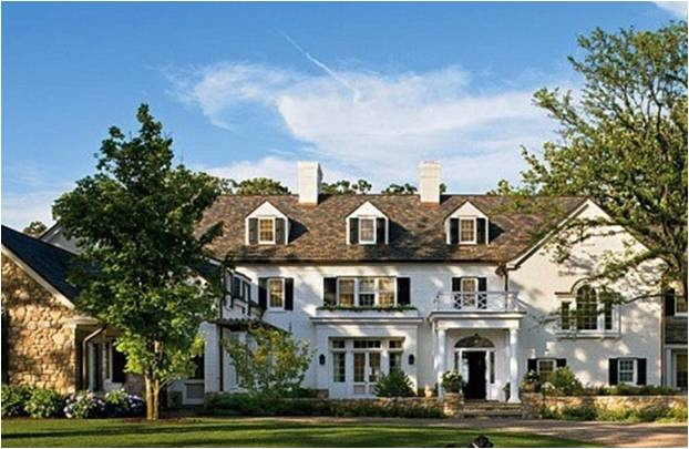 traditionalDreams Home, Exterior, Future, Dreams House, Black Shutters, Architecture Digest, White House, Black Labs, New England Home