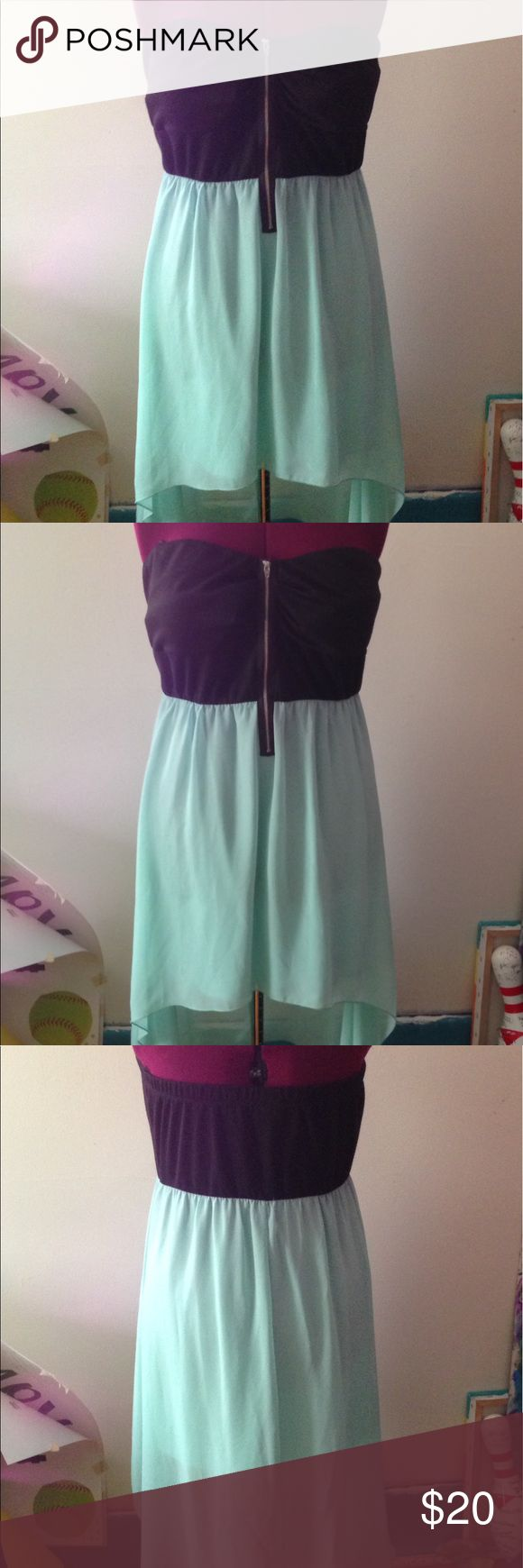 Deb Shops,  High Low Dress, Size 3X. Deb Shops,  High Low Black and Light Blue Dress, Size 3X. Dresses High Low