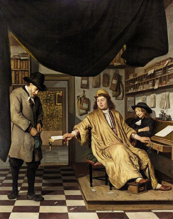 Cornelis de Man    A NOTARY IN HIS OFFICE