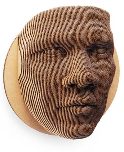 Layers of cut corrugated fiberboard are glued together in order to make this face PD