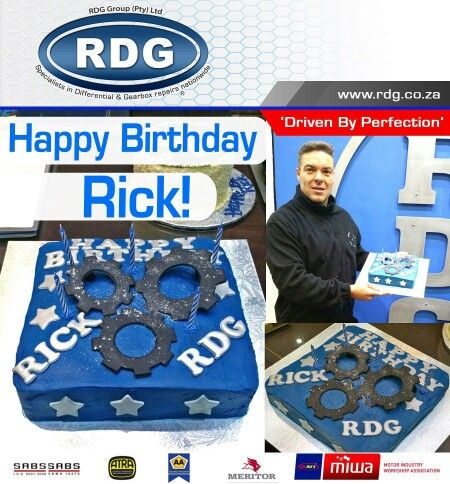 A very warm greeting to you all, Today we Celebrate Rick's Birthday.  From the entire RDG Team we would like to wish our amazing boss all the best on his special day!!!