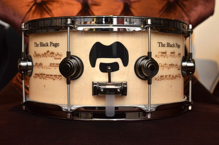 DW DREX6514SSN-FZ Collectors Series Terry Bozzio Black Page Limited Edition Icon Snare Drum