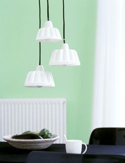 DIY Lamp made from pudding mould #dessert - Lamp van puddingvorm #toetje