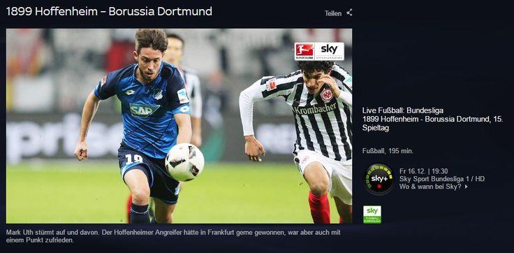Nachricht: Hoffenheim gegen BVB Dortmund: Bundesliga-Freitag im Livestream - http://ift.tt/2hCXpx1 #nachricht