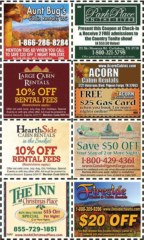 Discount coupons for pigeon forge tn