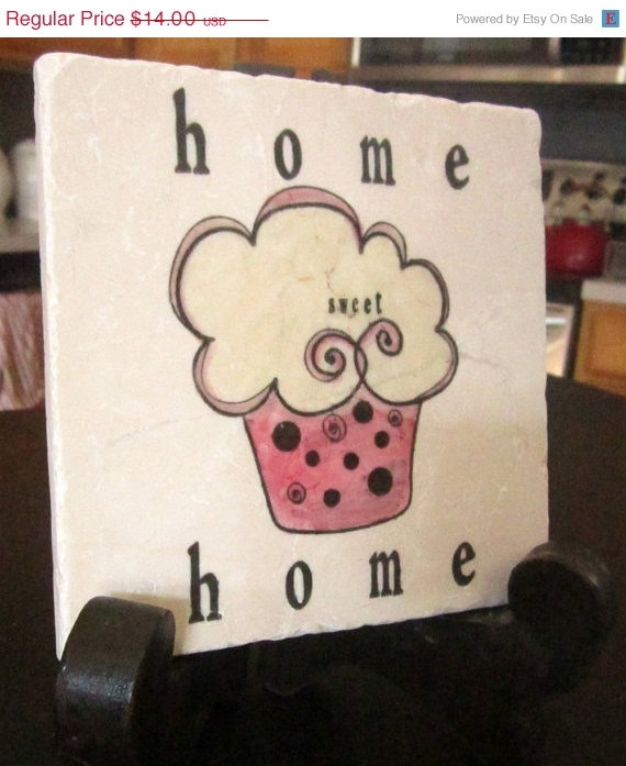 SUPER SPECIAL Home Sweet Home Cupcake Trivet by MyLittleChick, $9.80