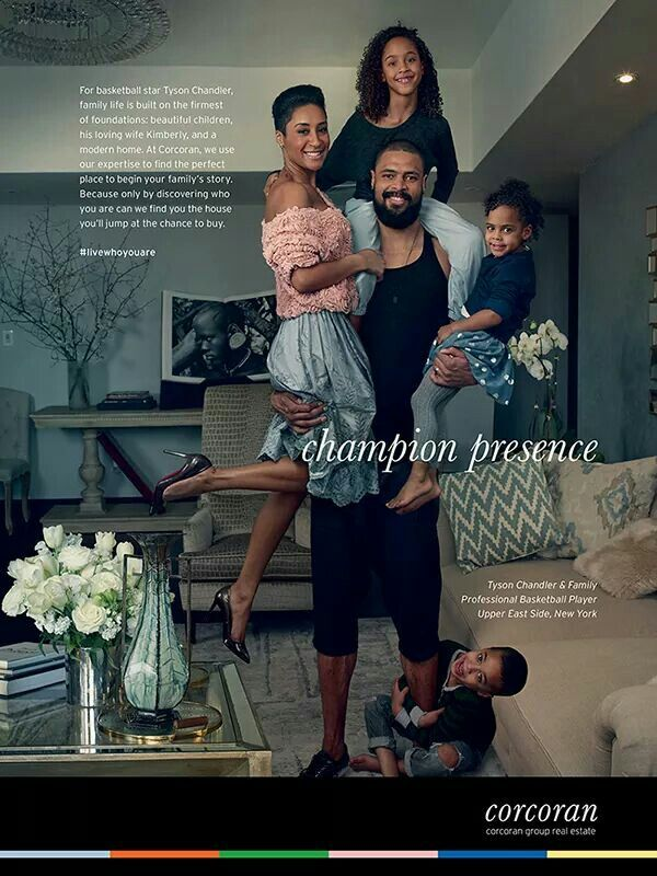 Tyson Chandler and beautiful family.