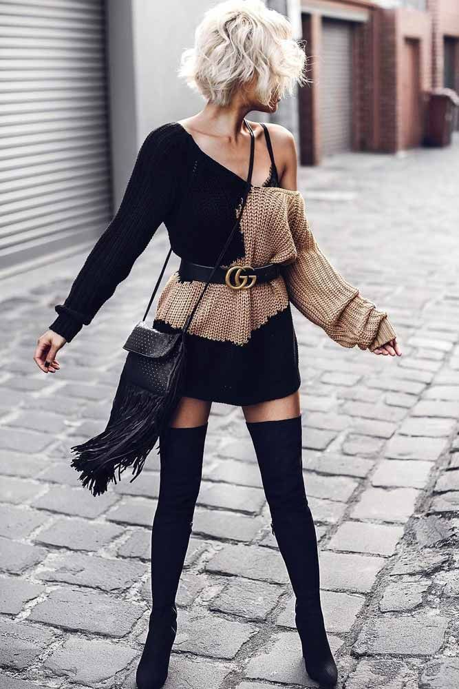 bc3690d5a97 18 Inspiring Ideas How To Rock A Sweater Dress On Daily Basis. Love this  outfit  mystyle  fall  fashion  mystyle  ideas