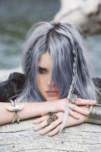 Серая краска для волос, серый цвет волос : Краски Антоцианин