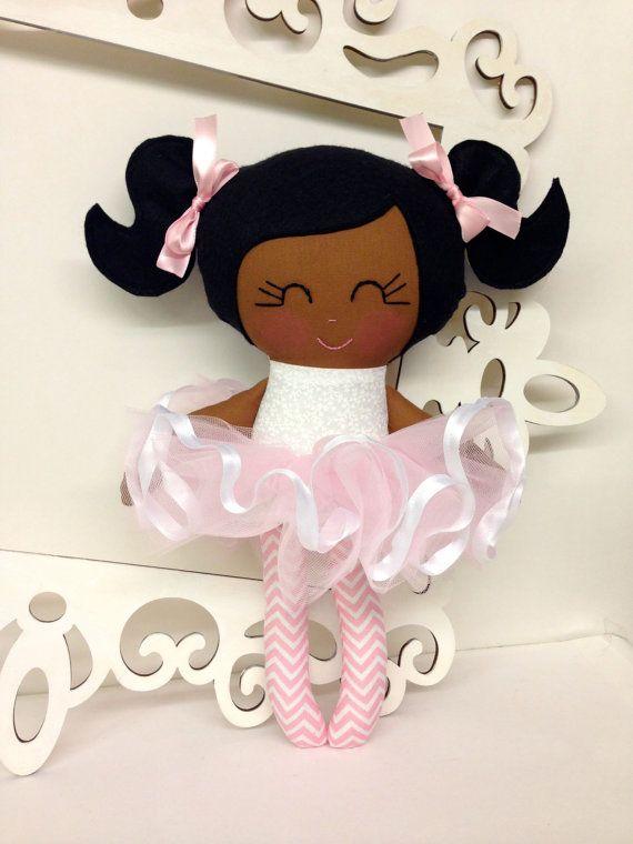 Ballerina Handmade Doll Fabric Dolls Soft Dolls by SewManyPretties, $45.00 #ballerina # ballerinaparty