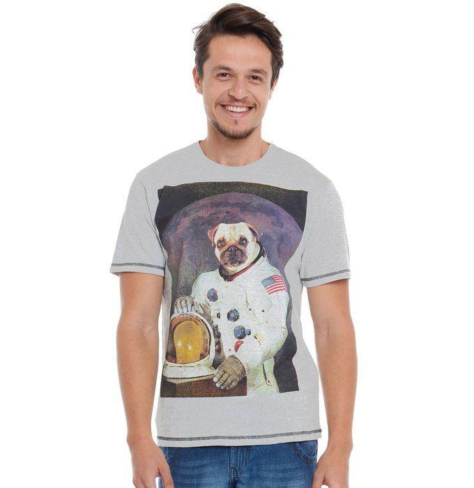 Camiseta masculina com silk cachorro | Camiseteca