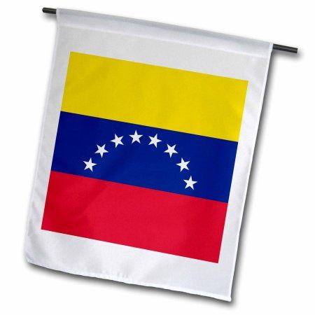 3dRose Flag of Venezuela - Venezuelan golden yellow blue red with white stars - South America country world, Garden Flag, 18 by 27-Inch
