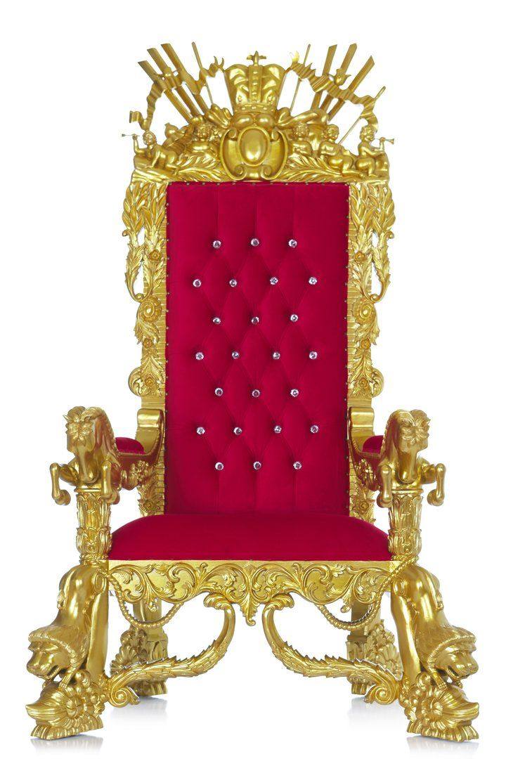 The Neverland Throne Chair Red Gold In 2020 Throne Chair Chair Royal Throne