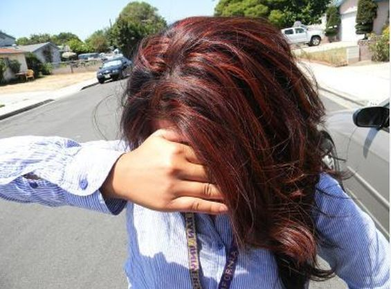 Chocolate Brown With Red Highlights Beautiful