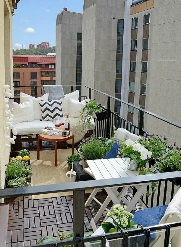 Kleinen Balkon Gestalten Kleine Terrasse Gestalten
