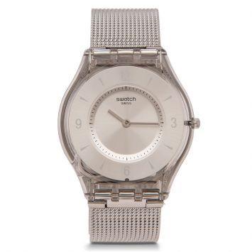 Reloj Swatch Metal Knit Plateado - Perfecto para una tenida elegante
