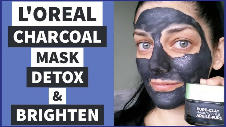 L'OREAL PURE CLAY CHARCOAL FACE MASK | REVIEW + DEMO | DETOX SKINCARE 2017