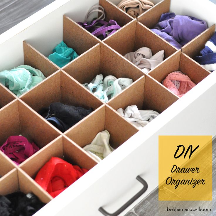 DIY Custom Drawer Organizers | Belle, Drawers and DIY and ...
