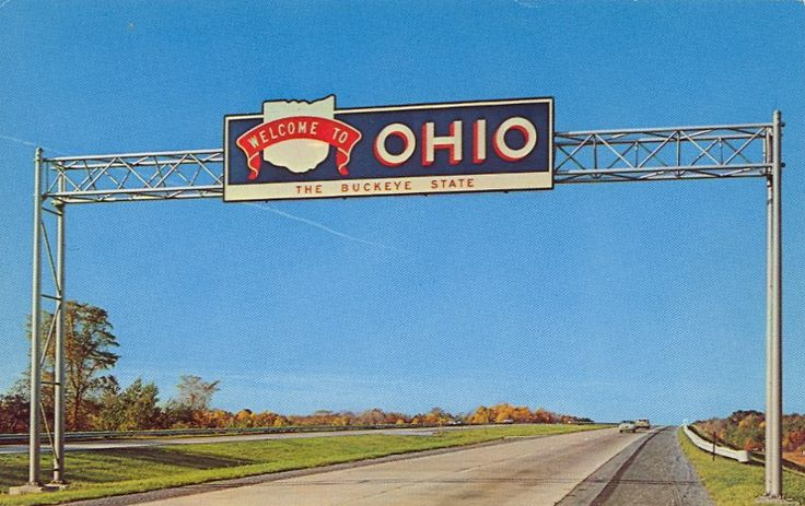 Beginning of Ohio's Interstate 90 Freeway