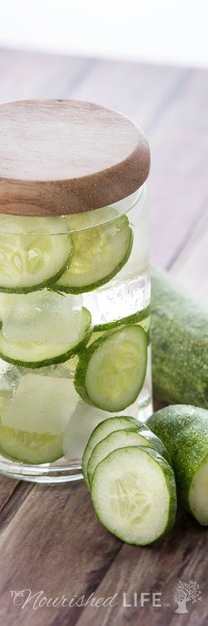 Cucumber water recipe - this is perfect for hydration and detox this summer... from livingthenourishedlife.com