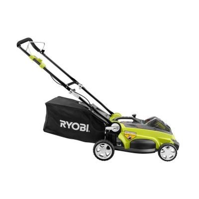 Ryobi 16 in. 40-Volt Lithium-ion Cordless Walk-Behind Lawn Mower with 2-Battery-RY40112A at The Home Depot
