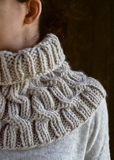 Cozy Cable Cowl pattern by Purl Soho. Knitting pattern available for free.