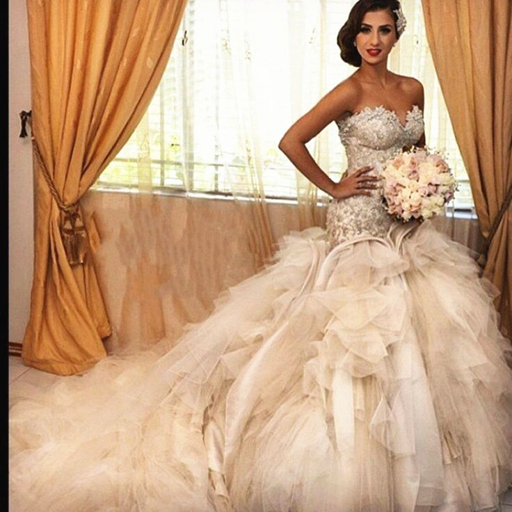 >> Click to Buy << 2015 Luxury Bride Dresses Corset Lace Beaded Princess Ball Gown Wedding Dresses With Long Train For Wedding Party Fast Delivery #Affiliate
