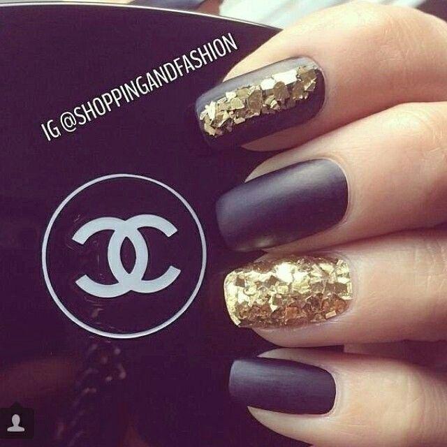 Matte Black Glitter Nail Polish: 60 Best CHANEL NAIL Images On Pinterest