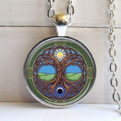Ciondolo albero della vita albero celtico della vita collana