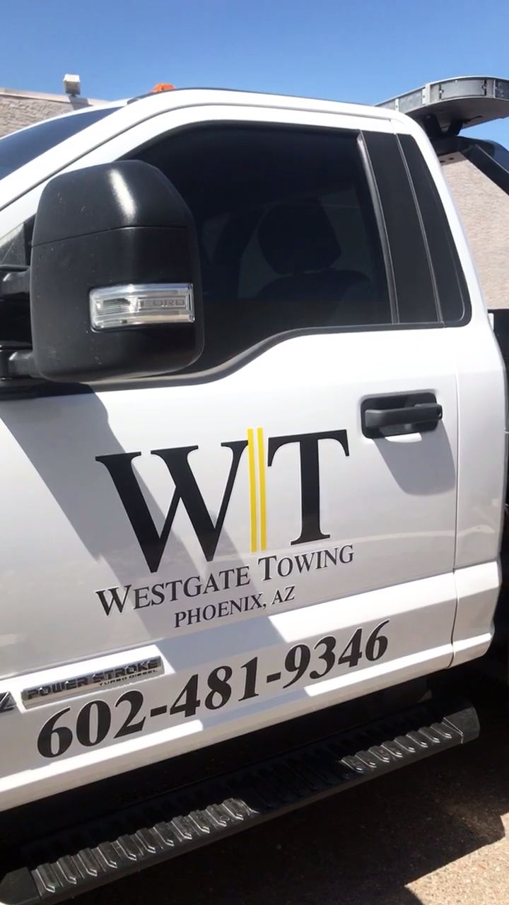 Did another vehicle decal set for westgate towing company since they loved their first decals we did for them 🔥👍 onfire westgate